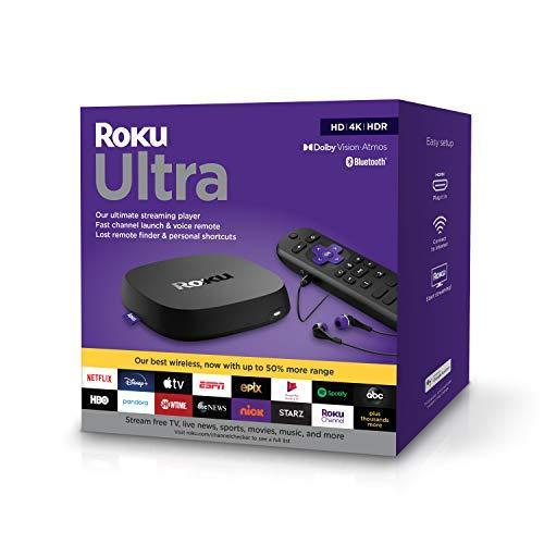 Roku Ultra 2020   Streaming Device HD/4K/HDR/Dolby Vision with Dolby Atmos, Bluetooth Streaming…
