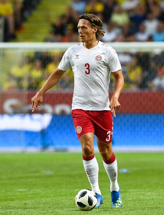 Denmark's Jannik Vestergaard dreaming of beer and fast food (AFP Photo/Jonathan NACKSTRAND)