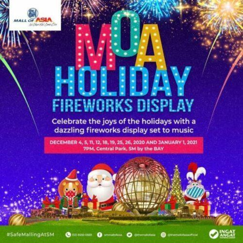 new year's eve countdown - mall of asia fireworks display 2021
