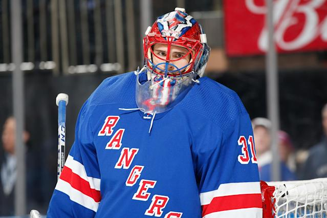 Igor Shesterkin represents just one piece of the goaltender puzzle for NY. (Photo by Jared Silber/NHLI via Getty Images)