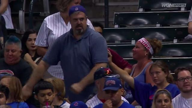 A recent video of one Cubs fan dancing on a jumbotron while his daughter withers inside will definitely have you embarrassed for her.