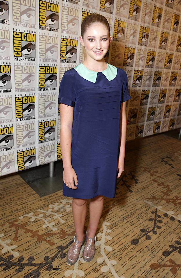 Willow Shields seen at Lionsgate Presentation at 2013 Comic-Con, on Saturday, July, 20, 2013 in San Diego, Calif. (Photo by Eric Charbonneau/Invision for Lionsgate/AP Images)