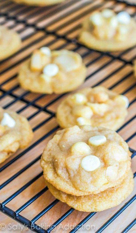 """<p>Hawaii has a corner on the macadamia nut market within the U.S., and combining them with white chocolate bits makes for an epic cookie that's sweet, creamy and crunchy all at once.</p><p>Get the recipe from <a href=""""https://sallysbakingaddiction.com/2012/09/03/super-chunk-white-chocolate-macadamia-nut-cookies/"""" rel=""""nofollow noopener"""" target=""""_blank"""" data-ylk=""""slk:Sally's Baking Addiction"""" class=""""link rapid-noclick-resp"""">Sally's Baking Addiction</a>.</p>"""