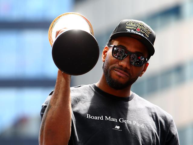 Kawhi Leonard captured his second Finals MVP honor in leading Toronto to a title. (Getty Images)