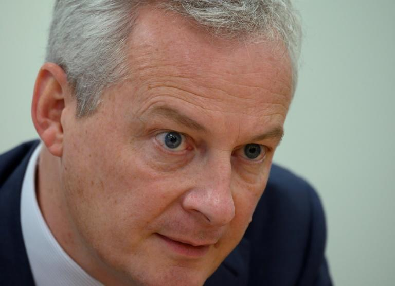French Finance Minister Bruno Le Maire, pictured October 2019, has expressed serious concerns about Facebook's Libra project