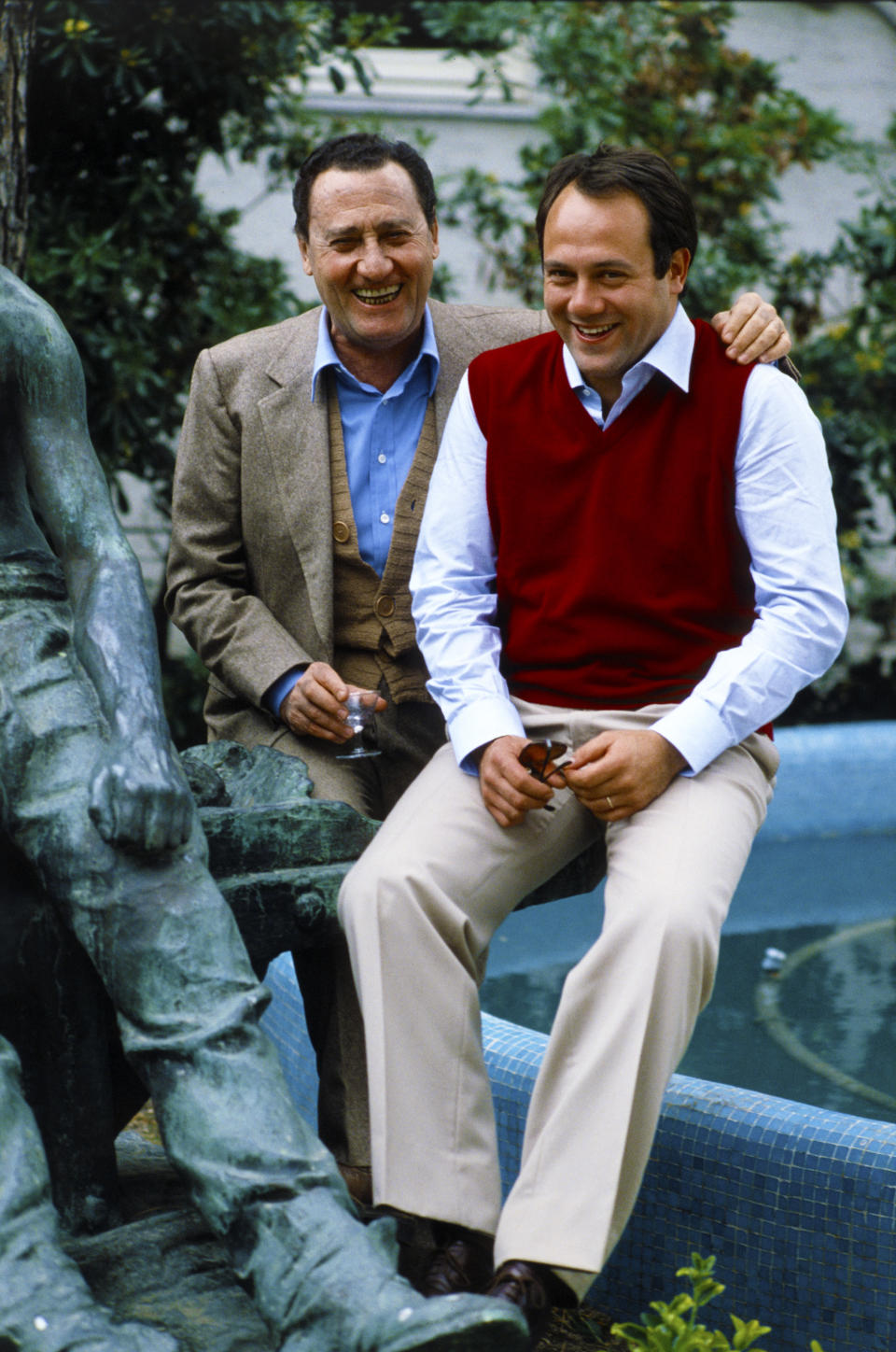 "Con Alberto Sordi per il film ""In viaggio con papà"" (Photo by Rino Petrosino/Mondadori via Getty Images)"