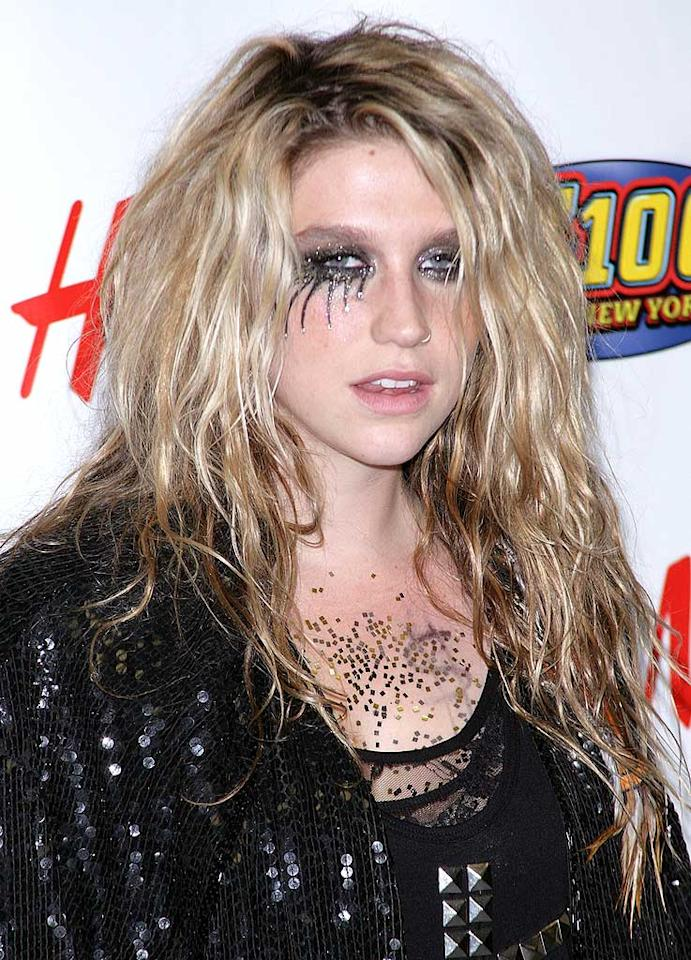 """Budding pop star Ke$ha's latest single, """"Tik Tok"""" is undoubtedly hot; however, her chunky body glitter and painfully goth eye accessories are not. Jim Spellman/<a href=""""http://www.wireimage.com"""" target=""""new"""">WireImage.com</a> - December 11, 2009"""