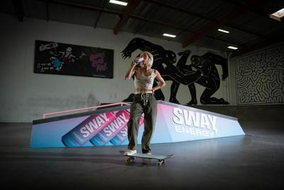 SWAY Energy Drink and The Berrics Announce New Partnership (Pictured here: Marissa Martinez @mamaskate is one of the newest female athletes and ambassadors for SWAY Energy Drink. (Photo Credit: Yoon Sul, The Berrics)