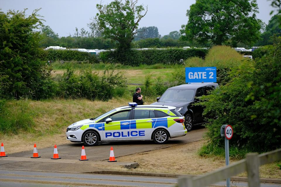 A mass exodus of vehicles took place on Friday with police guarding to prevent any return visitors  (swns)