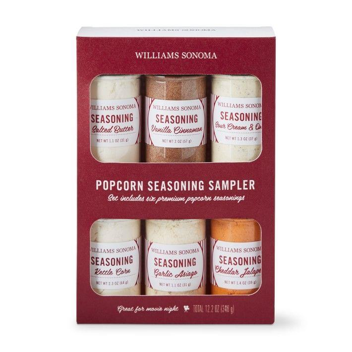 """<p>williams-sonoma.com</p><p><strong>$39.95</strong></p><p><a href=""""https://go.redirectingat.com?id=74968X1596630&url=https%3A%2F%2Fwww.williams-sonoma.com%2Fproducts%2Fwilliams-sonoma-popcorn-seasoning-library-set&sref=https%3A%2F%2Fwww.thepioneerwoman.com%2Fholidays-celebrations%2Fgifts%2Fg32417680%2Fgifts-for-movie-lovers%2F"""" rel=""""nofollow noopener"""" target=""""_blank"""" data-ylk=""""slk:Shop Now"""" class=""""link rapid-noclick-resp"""">Shop Now</a></p><p>Movie night just got a whole lot more delicious. Flavors like sour cream and onion, kettle corn, and cheddar jalapeño will elevate every kernel.</p>"""