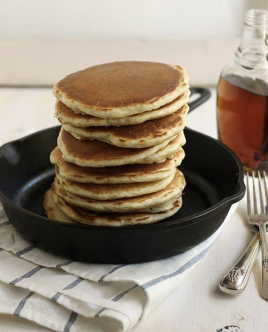 "<strong>Get the <a href=""http://www.completelydelicious.com/2013/05/sourdough-pancakes.html"" rel=""nofollow noopener"" target=""_blank"" data-ylk=""slk:Sourdough Pancakes recipe"" class=""link rapid-noclick-resp"">Sourdough Pancakes recipe</a> from Completely Delicious</strong>"