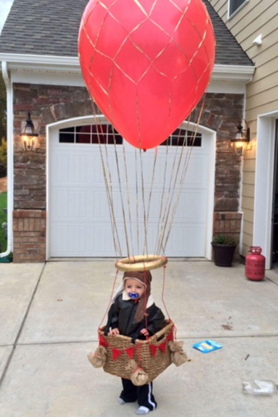 <p>Don't worry, the hefty bags of candy kept this hot air balloonist planted firmly on the ground.</p>