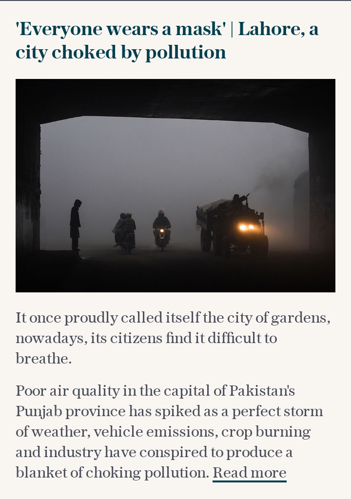 'Everyone wears a mask' | Lahore, a city choked by pollution
