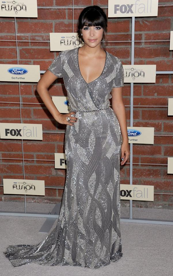 "Hannah Simone (""New Girl"") attends Fox's Fall 2012 Eco-Casino party at The Bookbindery on September 10, 2012 in Culver City, California."