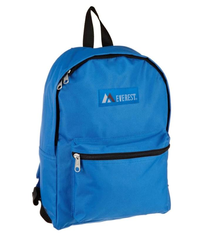 """Find this <a href=""""https://amzn.to/2P2UVXO"""" rel=""""nofollow noopener"""" target=""""_blank"""" data-ylk=""""slk:Everest Luggage basic backpack"""" class=""""link rapid-noclick-resp"""">Everest Luggage basic backpack</a> for $9 on <a href=""""https://amzn.to/2P2UVXO"""" rel=""""nofollow noopener"""" target=""""_blank"""" data-ylk=""""slk:Amazon"""" class=""""link rapid-noclick-resp"""">Amazon</a>."""