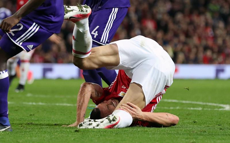 Zlatan Ibrahimovic's miserable night ended with an injury