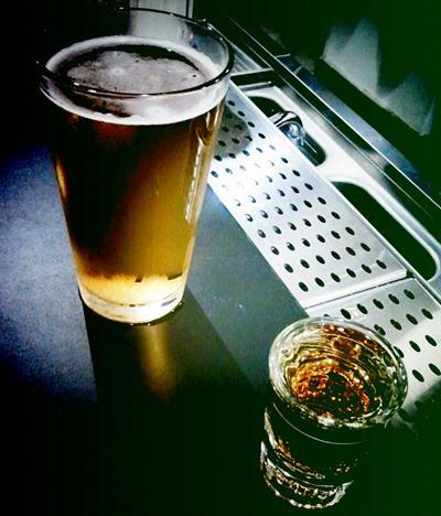 """<div class=""""caption-credit""""> Photo by: Photo by Flickr user allaboutgeorge</div><b>Beer Then Liquor, Never Sicker. Liquor Then Beer, Never Fear</b> <br> <br> The hard truth is that the more you drink, the worse you're going to feel the day after. Since bubbly booze like beer and sparkling wine tend to <a rel=""""nofollow noopener"""" href=""""http://www.nytimes.com/2006/02/07/health/07real.html"""" target=""""_blank"""" data-ylk=""""slk:irritate the stomach lining and speed up alcohol's absorption rate"""" class=""""link rapid-noclick-resp"""">irritate the stomach lining and speed up alcohol's absorption rate</a>, you might get drunker faster if you move to hard liquor after initially drinking beer. But you should really have food in that belly before a night out if you care about not getting sick (see #6)."""