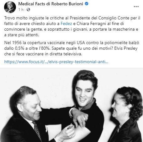 Il post di Roberto Burioni (Photo: facebook)