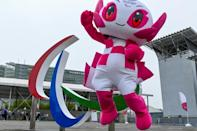 Tokyo's Paralympic mascot Someity was plastered across the city during the Games, which end Sunday (AFP/Kazuhiro NOGI)