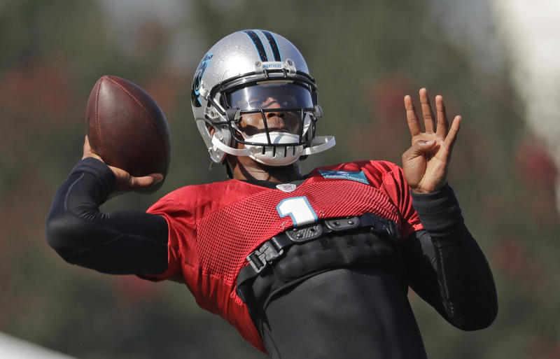 Carolina Panthers quarterback Cam Newton spent the offseason rehabbing from shoulder surgery. (AP)