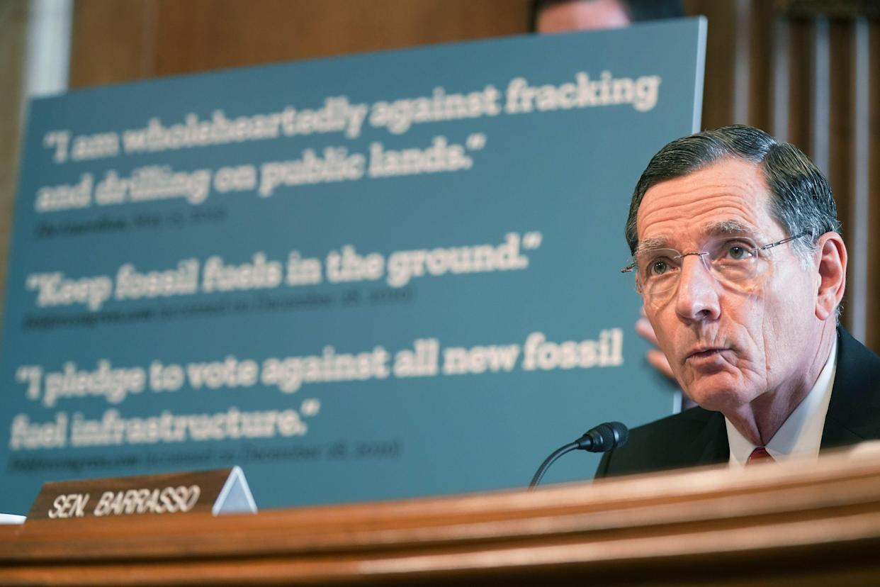 Sen. John Barrasso (R-Wyo.) had a very limited focus on what he asked Haaland about at Energy and Natural Resources Committee's confirmation hearing for her. (Photo: LEIGH VOGEL/AFP via Getty Images)