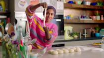"""<p>After winning the fifth season of <em>The Great British Bake Off</em>, Nadiya Hussain became a culinary celebrity in her own right. The charming <a href=""""https://www.amazon.com/Nadiya-Bakes-Must-Try-Recipes-Biscuits/dp/0593233735?tag=syn-yahoo-20&ascsubtag=%5Bartid%7C10072.g.36030031%5Bsrc%7Cyahoo-us"""" rel=""""nofollow noopener"""" target=""""_blank"""" data-ylk=""""slk:cookbook author"""" class=""""link rapid-noclick-resp"""">cookbook author</a> hosts this Netflix baking show. Each episode has a different focus, from savory desserts to pastries perfect for parties. But if you're anything like us, you'll skip ahead to the <a href=""""https://www.netflix.com/watch/81251348?trackId=14277283&tctx=-97%2C-97%2C%2C%2C%2C"""" rel=""""nofollow noopener"""" target=""""_blank"""" data-ylk=""""slk:chocolate episode"""" class=""""link rapid-noclick-resp"""">chocolate episode</a>.</p><p><a class=""""link rapid-noclick-resp"""" href=""""https://www.netflix.com/watch/81308321?source=35"""" rel=""""nofollow noopener"""" target=""""_blank"""" data-ylk=""""slk:Watch Now"""">Watch Now</a></p>"""