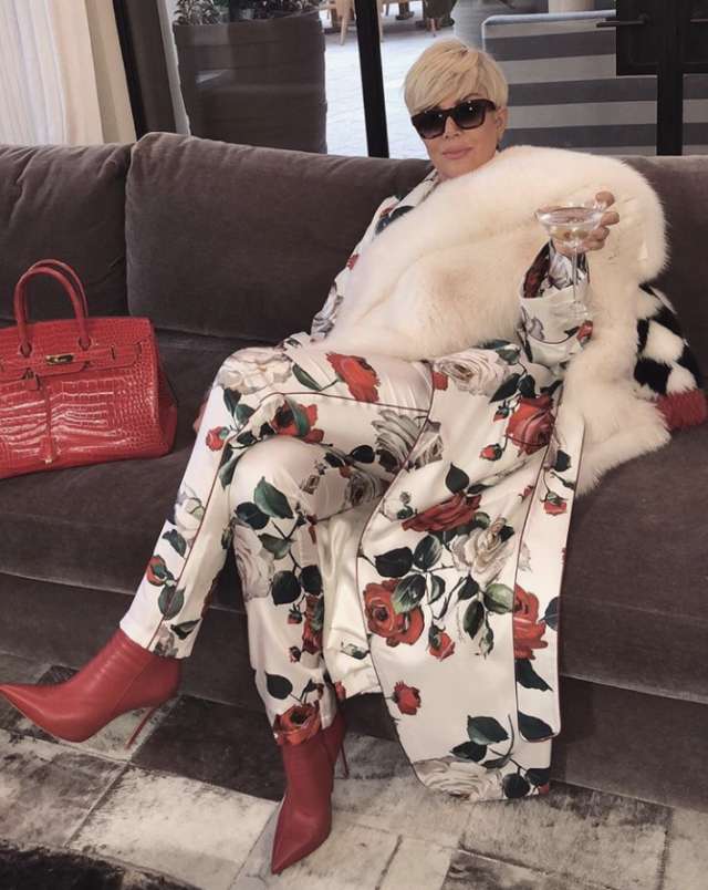 """<p>Who's that girl? Kim posted this sexy shot of her mom, Kris Jenner, <a href=""""https://www.yahoo.com/lifestyle/kris-jenner-briefly-tries-life-blonde-121222536.html"""" data-ylk=""""slk:as a blonde"""" class=""""link rapid-noclick-resp"""">as a blonde</a>, and the internet went wild thinking the momager opted for a full-on dye job. Mrs. West, who recently went blond herself, asked her followers to caption the shot, adding that hers would be """"SWF."""" Alas, the look was only temporary, as Jenner showed up on the red carpet last night back to the usual brunette we know and love. But this had to be fun for a minute or two, no? (Photo: <a href=""""https://www.instagram.com/p/Bami2gpljqI/?taken-by=kimkardashian"""" rel=""""nofollow noopener"""" target=""""_blank"""" data-ylk=""""slk:Kim Kardashian via Instagram)"""" class=""""link rapid-noclick-resp"""">Kim Kardashian via Instagram)</a> </p>"""