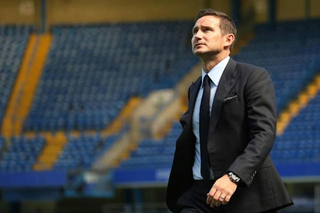 Home comforts: Frank Lampard takes charge of his first match at Stamford Bridge as Chelsea manager on Sunday (AFP Photo/Isabel Infantes)