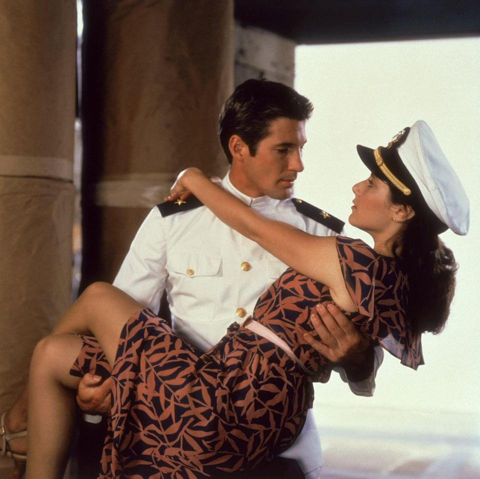 """<p>When people think of a Richard Gere romance, <em><a href=""""https://www.amazon.com/Pretty-Woman-Richard-Gere/dp/B006RXQ3GO?tag=syn-yahoo-20&ascsubtag=%5Bartid%7C10063.g.34933377%5Bsrc%7Cyahoo-us"""" rel=""""nofollow noopener"""" target=""""_blank"""" data-ylk=""""slk:Pretty Woman"""" class=""""link rapid-noclick-resp"""">Pretty Woman</a></em> immediately comes to mind (which was DQed from this list for being a romantic comedy) — but no one should overlook his earlier, swoonier turn in <em>An Officer and a Gentleman</em>. It'll have you singing """"<a href=""""https://www.amazon.com/Up-Where-We-Belong/dp/B000S55TTY?tag=syn-yahoo-20&ascsubtag=%5Bartid%7C10063.g.34933377%5Bsrc%7Cyahoo-us"""" rel=""""nofollow noopener"""" target=""""_blank"""" data-ylk=""""slk:Up Where We Belong"""" class=""""link rapid-noclick-resp"""">Up Where We Belong</a>"""" on a loop.</p><p><a class=""""link rapid-noclick-resp"""" href=""""https://www.amazon.com/Officer-Gentleman-Richard-Gere/dp/B000ZFYU0Q?tag=syn-yahoo-20&ascsubtag=%5Bartid%7C10063.g.34933377%5Bsrc%7Cyahoo-us"""" rel=""""nofollow noopener"""" target=""""_blank"""" data-ylk=""""slk:WATCH ON AMAZON"""">WATCH ON AMAZON</a> <a class=""""link rapid-noclick-resp"""" href=""""https://go.redirectingat.com?id=74968X1596630&url=https%3A%2F%2Fitunes.apple.com%2Fus%2Fmovie%2Fan-officer-and-a-gentleman%2Fid268132770&sref=https%3A%2F%2Fwww.redbookmag.com%2Flife%2Fg34933377%2Fbest-romantic-movies%2F"""" rel=""""nofollow noopener"""" target=""""_blank"""" data-ylk=""""slk:WATCH ON ITUNES"""">WATCH ON ITUNES</a></p>"""