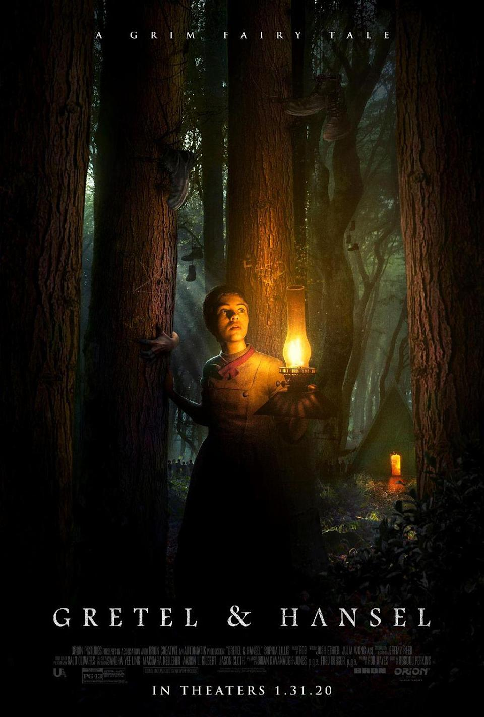 """<p>Oz Perkins is a horror lyricist fixated on grief and female agency, and both factor heavily into his atmospheric reimagining of the classic fairy tale. In a countryside beset by an unknown plague, teenage Gretel (<em>It</em>'s Sophia Lillis) refuses to work as an old creepy man's housekeeper, and is thus thrown out by her mother, forced to take her young brother Hansel (Sam Leakey) on a journey through the dark woods to a convent she has no interest in joining. Beset by hunger, the two come upon the home of a witch (Alice Krige), whose feasts are as mouth-watering as her magic lessons for Gretel are simultaneously empowering and unnerving. Perkins sticks relatively closely to his source material's narrative while nonetheless reshaping it into a story about feminine might and autonomy, and the potential cost of acquiring both. Drenched in ageless, evil imagery (full of triangular pagan symbols, pointy-hatted silhouettes, and nocturnal mist), and boasting a trippiness that becomes hilariously literal at one point, <em>Gretel & Hansel</em> casts a spell that feels at once ancient and new.</p><p><a class=""""link rapid-noclick-resp"""" href=""""https://www.amazon.com/Gretel-Hansel-Sophia-Lillis/dp/B0849S8LXY/?tag=syn-yahoo-20&ascsubtag=%5Bartid%7C10054.g.29500577%5Bsrc%7Cyahoo-us"""" rel=""""nofollow noopener"""" target=""""_blank"""" data-ylk=""""slk:Watch Now"""">Watch Now</a></p>"""