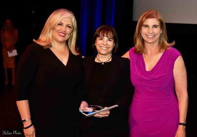 Joan Levinson (center) poses with Title Alliance of Arizona Branch Manager Debbie Marquez (left) and Scottsdale Area Association of REALTORS® CEO Rebecca Grossman. Levinson was recognized for Top Individual Volume in Scottsdale & Valleywide.