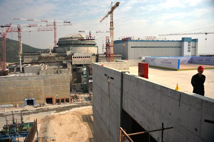 Construction under way on the Taishan Nuclear Power Station outside Taishan City in Guandong province on December 8, 2013 (AFP Photo/Peter Parks)