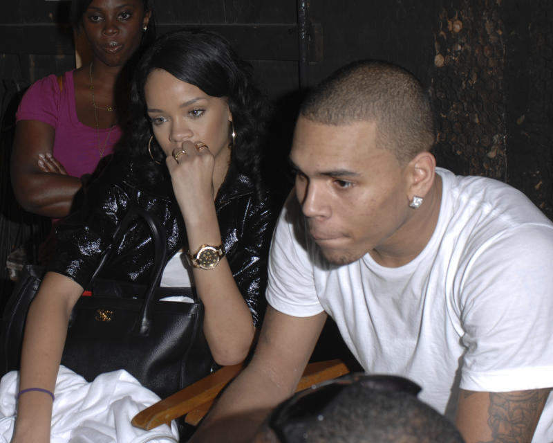 "***FILE PHOTO*** Chris Brown Arrested on Rape Allegations in Paris. MIAMI, FL - DECEMBER 28: Chris Brown and Rihanna on the set of Lil Mama new video shoot "" Shawty Get Loose,"" on December 28, 2007 in Miami, Florida. Credit: mpi04/MediaPunch /IPX"
