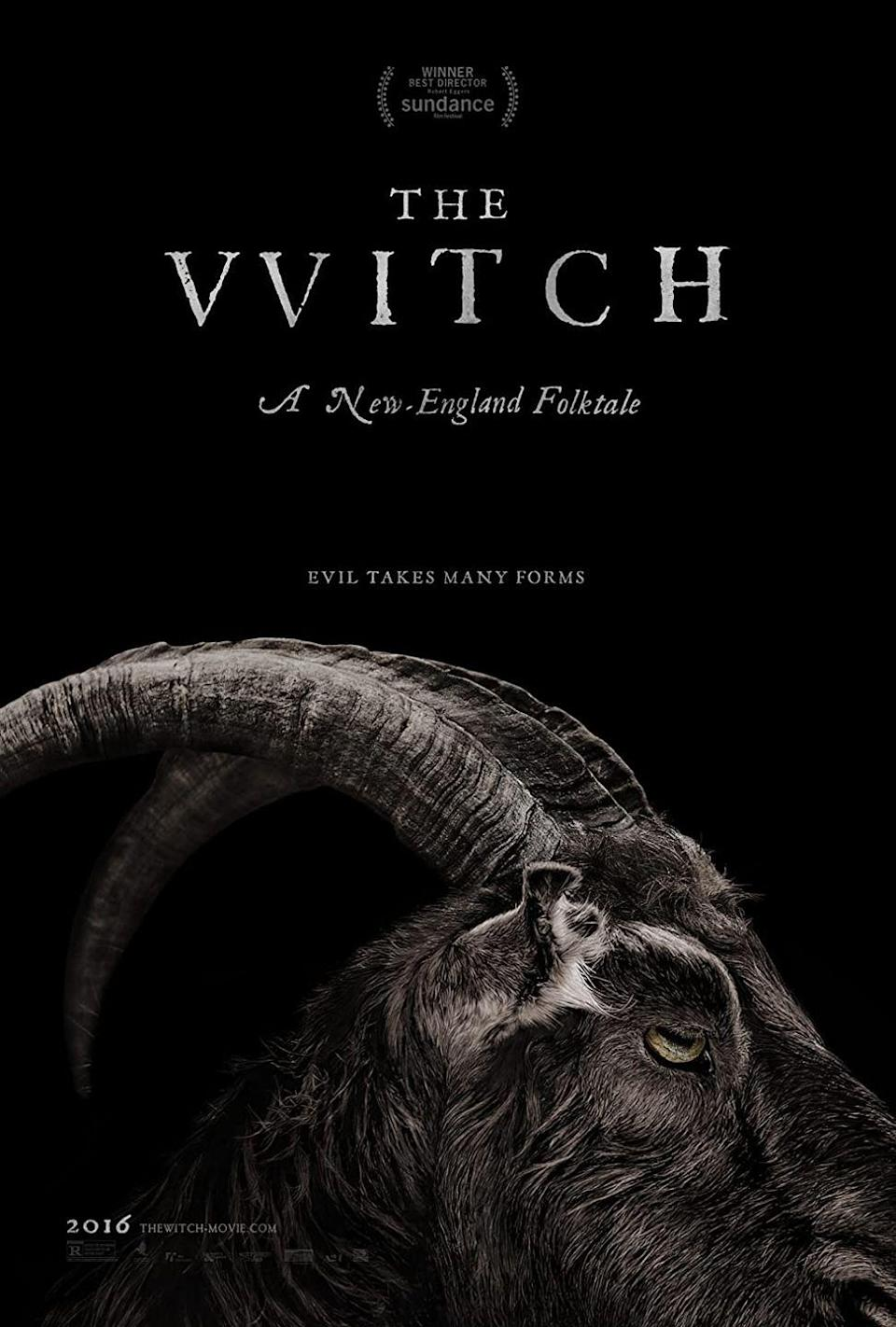 """<p>You're definitely going to want to wait until the kids go down to lower the lights in the living room theater for this truly freaky tale. The horror flick is set in 1600s New England. When a family's son vanishes, they blame the daughter who'd been watching him — was it witchcraft?<br></p><p><a class=""""link rapid-noclick-resp"""" href=""""https://www.amazon.com/Witch-Anya-Taylor-Joy/dp/B01BT3K19G?tag=syn-yahoo-20&ascsubtag=%5Bartid%7C10070.g.37360837%5Bsrc%7Cyahoo-us"""" rel=""""nofollow noopener"""" target=""""_blank"""" data-ylk=""""slk:WATCH NOW"""">WATCH NOW</a></p>"""