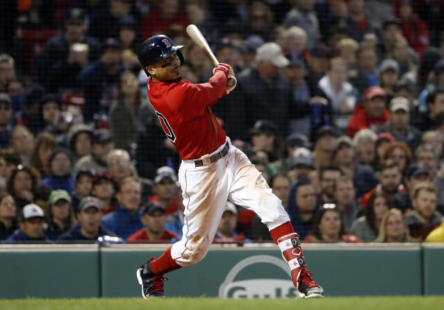Mookie Betts has more All-Star votes than any other player. (AP Photo/Winslow Townson)