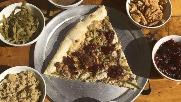 PHOTO: The Pizza Joint in El, Paso, Texas, created this Thanksgiving pizza featuring turkey, cranberry sauce, gravy and more. (The Pizza Joint )