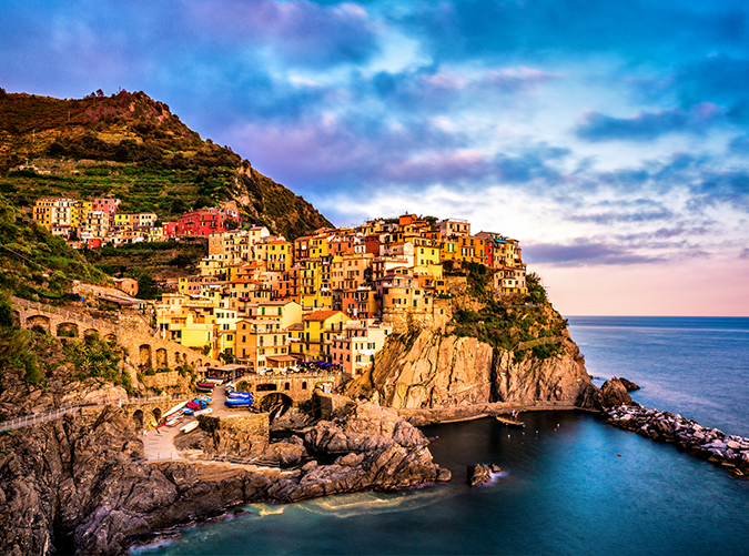 <p>One of the quaint fishing villages that make up the colorful Cinque Terre, Manarola is rife with grapevines, lemon groves and medieval walls. You can only imagine the views from here.</p>