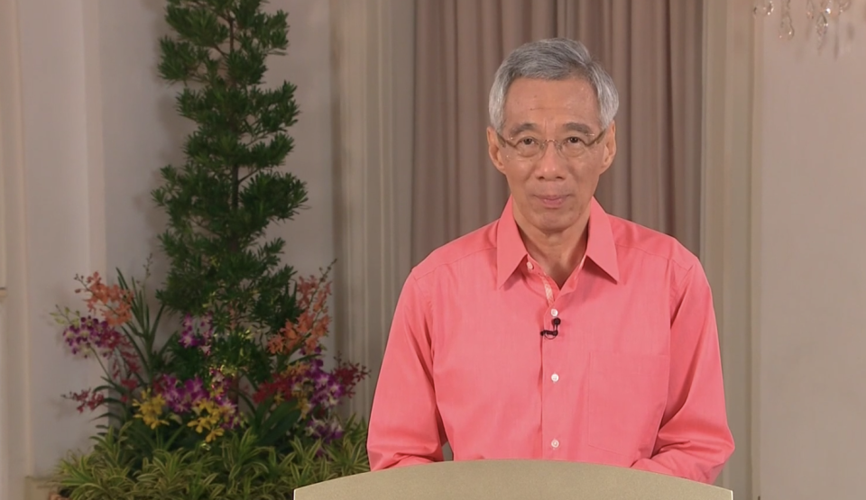 Singapore Prime Minister Lee Hsien Loong in a national broadcast on Sunday (7 June).