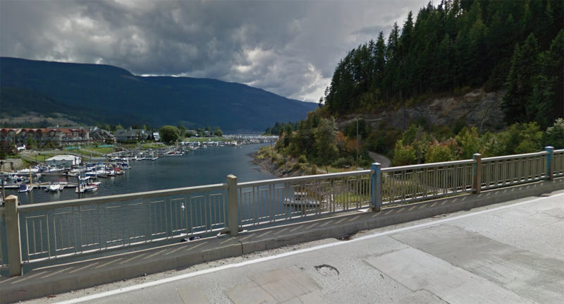 Canada's Bruhn Bridge jump is a popular tourist attraction in Sicamous. Source: Google Maps