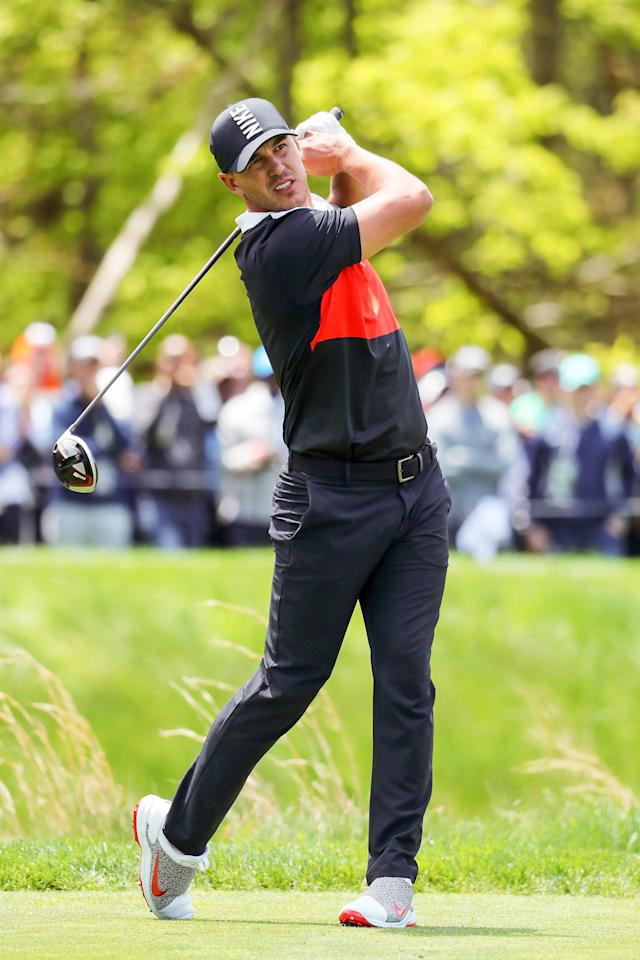 "<h1 class=""title"">1149591944</h1> <div class=""caption""> Koepka on his way to carding a near-perfect first-round 63 at last year's PGA Championship. His win there was his fourth major. </div> <cite class=""credit"">Warren Little / Getty Images</cite>"