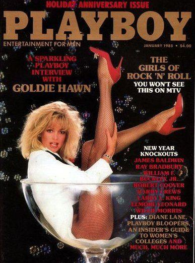 <p><strong>Issue: </strong>January 1985</p><p>Goldie Hawn posing in a giant champagne glass? We'll toast to that any day. </p>