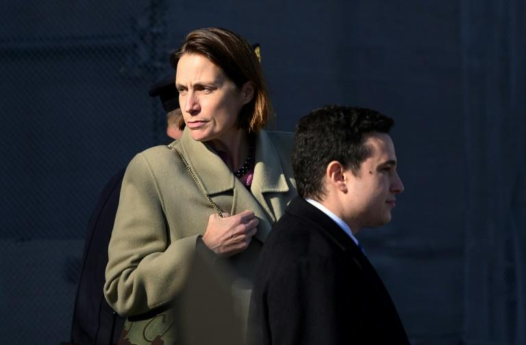 Fiona Hill, former senior director for Europe and Russia on the National Security Council, said Gordon Sondland, the US ambassador to the EU, told her he was in charge of Ukraine policy at the request of President Donald Trump (AFP Photo/ANDREW CABALLERO-REYNOLDS)