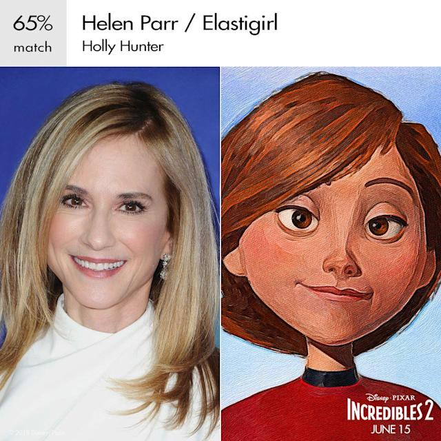 Holly Hunter as Elastigirl in Pixar's <em>Incredibles 2</em>. (Image: Disney)