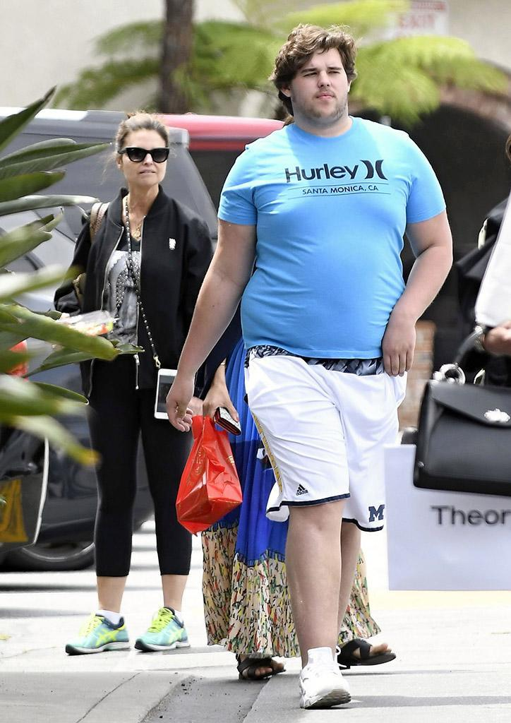 Maria Shriver was seen taking her son Christopher and daughter Katherine out for lunch in Beverly Hills