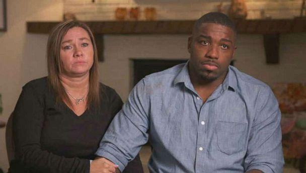 PHOTO: The mother, Angela Haley-Harris, and stepfather, Walt Harris, of missing Alabama college student Aniah Blanchard speak to 'Good Morning America' on Wednesday, Nov. 6, 2019. (ABC News)
