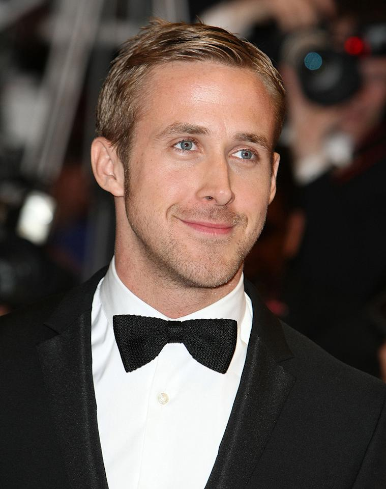 """<a href=""""http://movies.yahoo.com/movie/contributor/1804035474"""">Ryan Gosling</a> at the 63rd Annual Cannes Film Festival premiere of <a href=""""http://movies.yahoo.com/movie/1809945752/info"""">Blue Valentine</a> on May 18, 2010 in Cannes, France."""