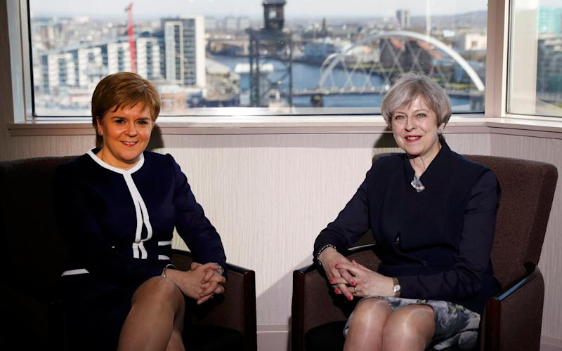 Prime Minister Theresa May (right) and First Minister Nicola Sturgeon during their meeting in Glasgow earlier this week  - PA