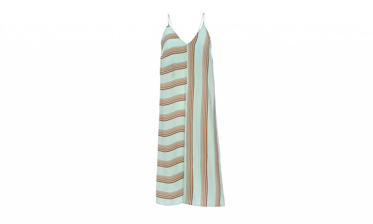 """<p>Cienne is a contemporary women's ready-to-wear line that sources its materials from around the globe. This dress is made of 100 percent silk.<br /><br />April Dress in Sherbert Stripe, $385, from Maison de Monde, <a rel=""""nofollow"""" href=""""https://maison-de-mode.com/products/the-april-dress-stripe"""">maison-de-mode.com</a> </p>"""
