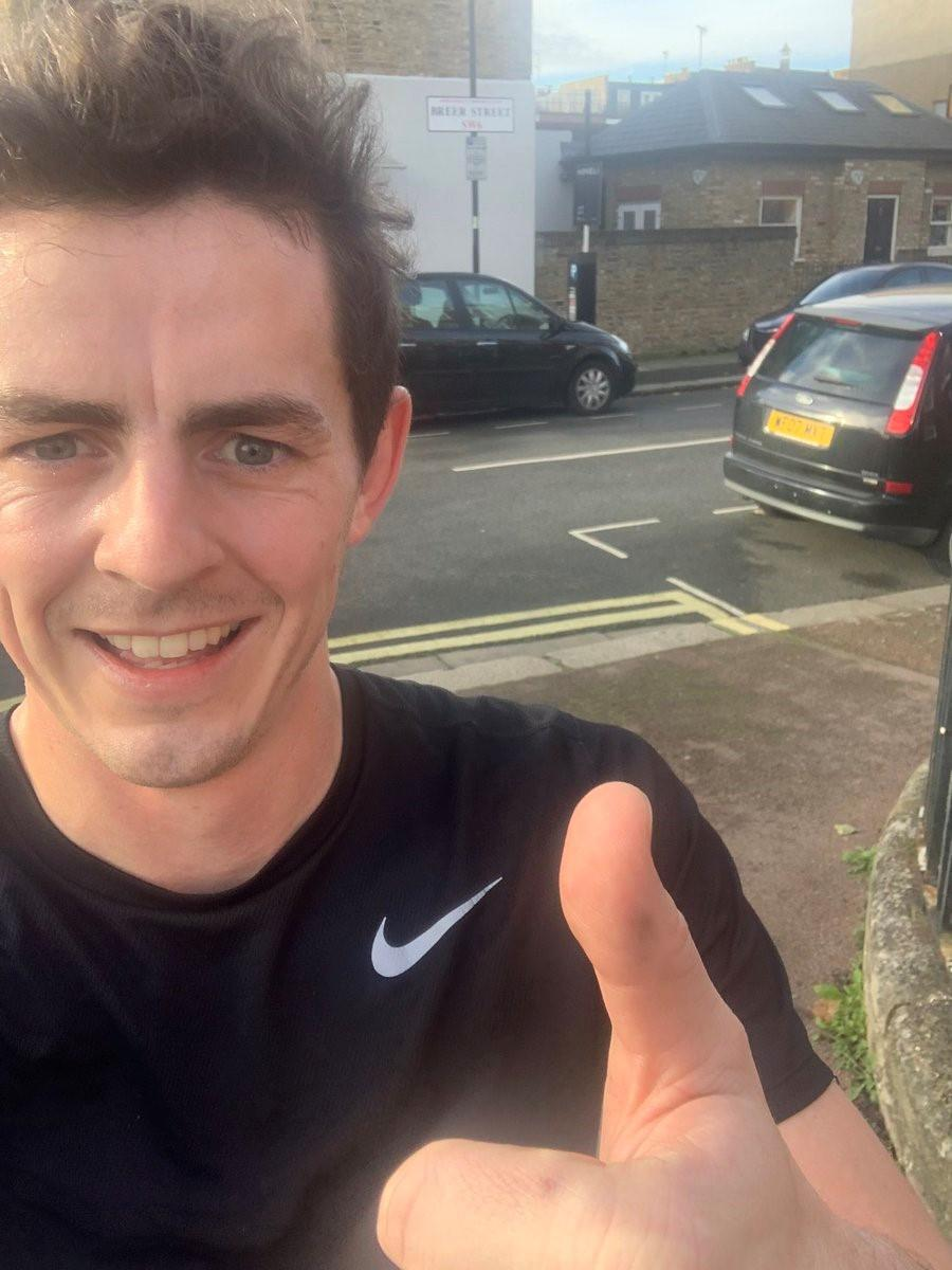 Jack Ryan, 29, is thought to have been jogging when he was struck by a Range Rover near the northern end of Battersea Bridge at 6pm on Wednesday.  handout
