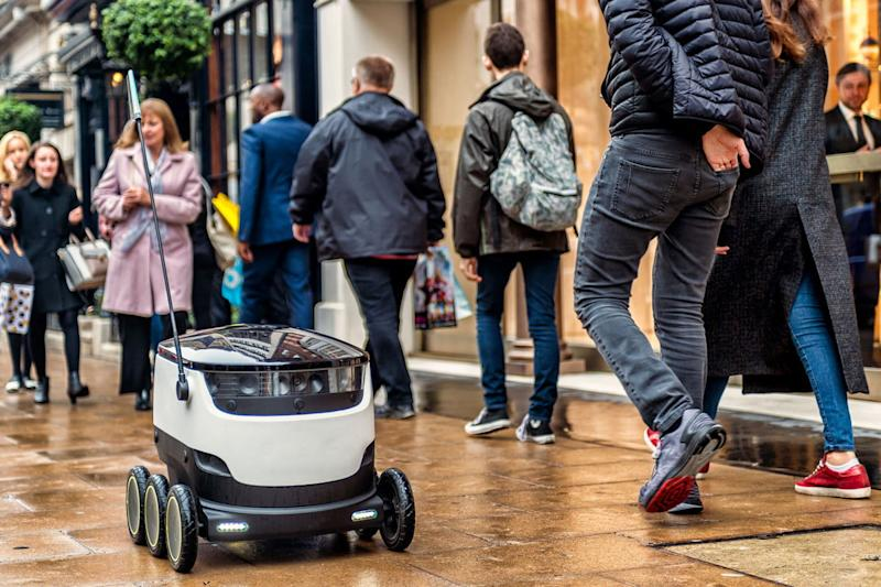 how starship technologies created delivery robots robot crowded space